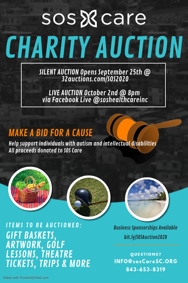 SOS CARE Charity Auction September